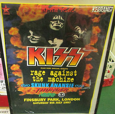 KISS POSTER ROCK  LATE 90'S COLLECTABLE RAGE AGAINST MACHINE L7 OOP NEW SEALED
