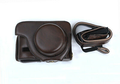 Dark Brown Ever Ready PU Leather Full Case for Canon PowerShot G1 X