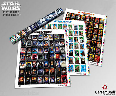 3 x Star Wars Poster Playing Card Proof Sheets - Poker - LIMITED EDITION  - NEU