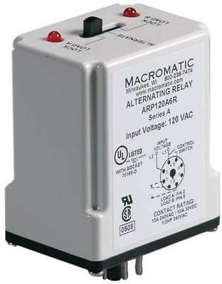 MACROMATIC ARP120A6R Alternating Relay,SPDT,120VAC,10A,8 Pin
