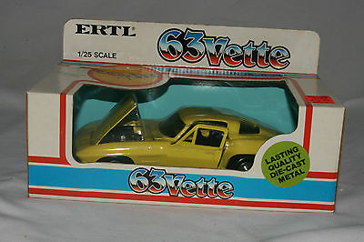 Ertl 1963 Chevrolet Corvette, 1:25 scale, Mint Boxed