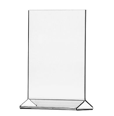 """Lot of 4 Clear Acrylic 11"""" x 17"""" Upright Sign Holders Top Load Table Tent"""