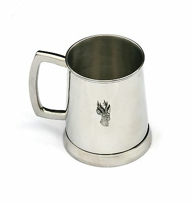 Roe Deer Head Tankard 1 Pint Metal Drinking Mug Present Big Game Shooting Gift