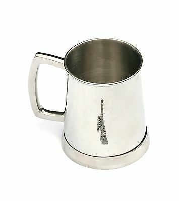 Rifle Shooting Tankard 1 Pint Metal Drinking Mug Present Stalking Hunter Gift