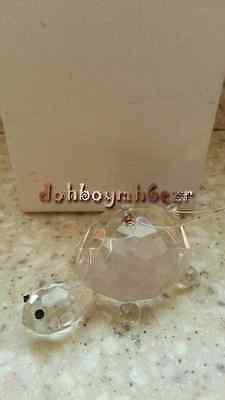 Reflections Crystal Footed Turtle Christmas Ornament
