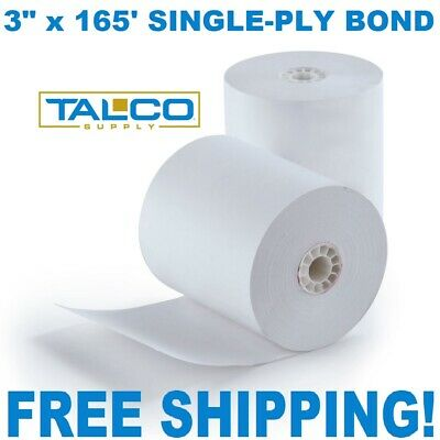 "STAR SP700 3"" x 165' BOND RECEIPT PAPER - 50 NEW ROLLS  ** FREE SHIPPING **"