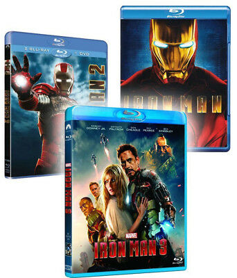 IRON MAN - LA COLLEZIONE COMPLETA (3 BLU-RAY) con Robert Downey Jr.