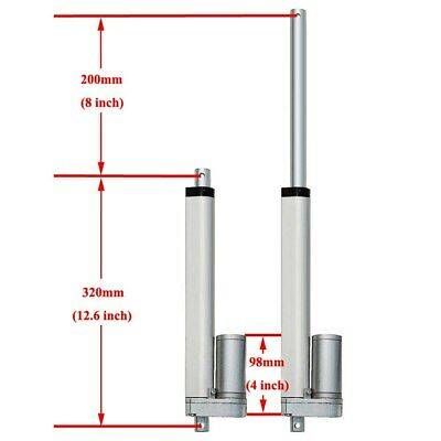 """Heavy Duty 18"""" Linear Actuator with Bracket Stroke 12 Volt DC 200 Pound Max Lift"""