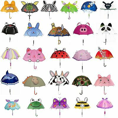Kidorable Kids Childrens 100% Nylon Whimsical Umbrella Brolly New
