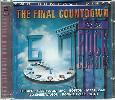 The Final Contdown 2Cd: 32 Rock Classics/Europe Boston Meat Loaf Toto Argent