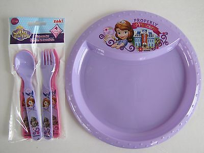 Disney Sofia the First Dinner Set -1 Plate - 2 Forks - 2 Spoons