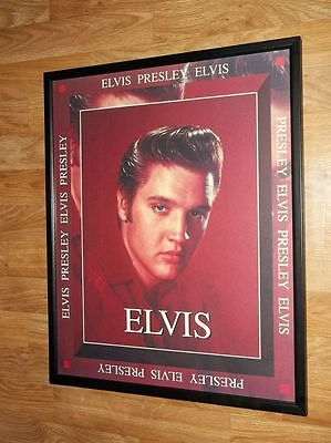 "Elvis Presley Colourful wall art printed on canvas 16/'/' X 16/"" solid frame"