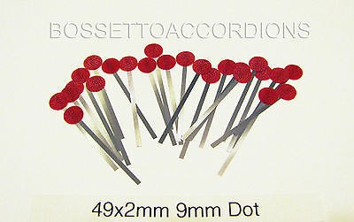SET OF 24 Accordion Accordian STEEL REED LEATHER BOOSTERS Size 49x2.5mm DOT 9mm