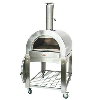 Large Stainless Steel Wood Fired Pizza Oven - Fits 4 Large Pizzas