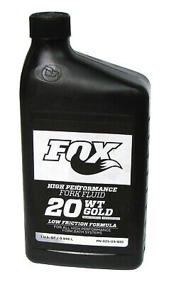 FOX RACING SHOX 20WT. GOLD BATH OIL New