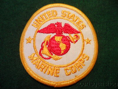 Vintage Us Marine Corps White Uniform Patch Usmc