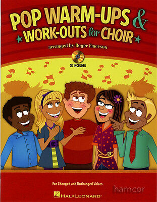 Pop Warm-Ups and Work-Outs for Choir Vocal Voice Singing Music Book with CD