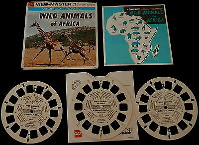 View-Master # B 618 WILD ANIMALS AFRICA 3 REELS 1960