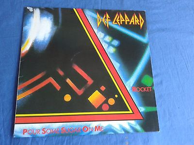 Def Leppard - Rocket/Pour Some Sugar On Me -West German Press - NEVER PLAYED