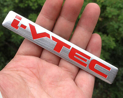 Car Performance Aluminum Emblems Decals Badge Stickers for Red i-VTEC Engine NEW
