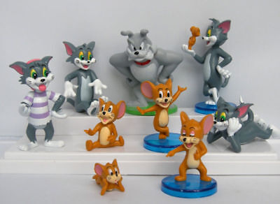 Tom & Jerry Funny Figure Toys Gift Set of 5pcs NEW