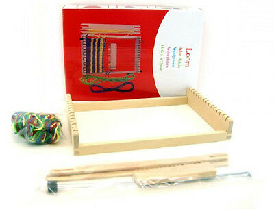 Kaper Kidz Children's Learn to Weave Cloth with a Wooden Loom! Weaving fun!