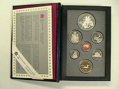 1990 ~ Canadian 7 Coin Double Dollar Proof Set Kelsey