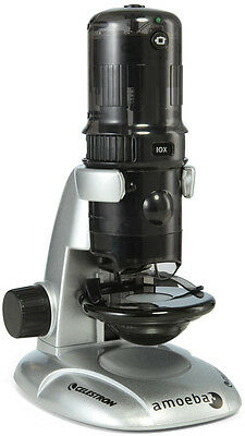 Celestron Amoeba Digital Microscope  With Stand - USB Connects to Computer