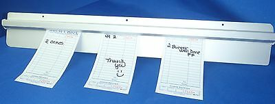 Restaurant Customer Ticket Receipt Holder Rail 36""