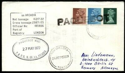 Tonga 1977 Paquebot Cover Ss Arcadia (Id:183/d28239)