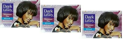 3x Dark and Lovely - Relaxer / Glättungscreme Moisture Plus REGULAR