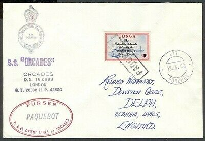 Tonga 1968 S.s. Orcades Paquebot Cover (Id:183/d28315)