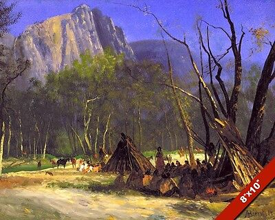 The Indian Council Native American History Oil Painting Art Print Real Canvas