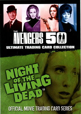 The Avengers 50 & Night Of The Living Dead 2012 Unstoppable Nsu Promo Card No #