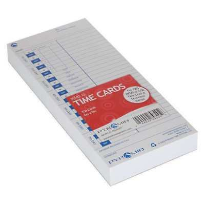 PYRAMID 35100-10 Time Card for 3500/3700 Clock,PK 100