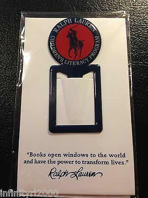 NEW POLO RALPH LAUREN Note Alloy Bookmark Novelty Document Book Marker