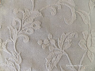 FUN BEDHEADS Queen Size Embossed Print Upholstered Bedhead RRP$900.00