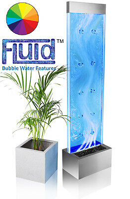 Free Standing Wall Bubble Jet Water Feature Fountain Swirling Pattern Indoor