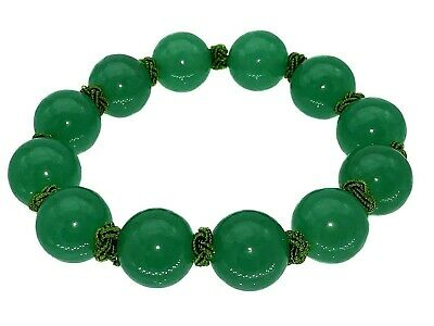 Feng Shui Handmade Green Aventurin Gemstone beads bracelet for wealth good luck