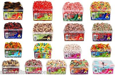 1 X Full Tub Sweet Zone Box Jelly Fizzy Pencils Candy Sweets Treats Varieties