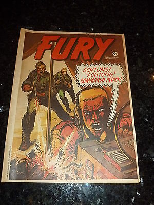 FURY Comic - No 9 - Date 11/05/1977 - UK Paper Comic