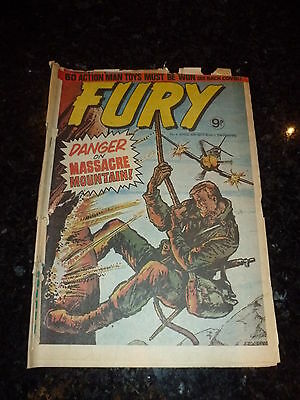 FURY Comic - No 4 - Date 06/04/1977 - UK Paper Comic