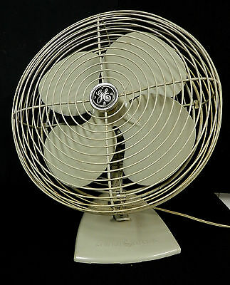VTG G E GENERAL ELECTRIC FAN  2-Speed EXTRA CLEAN  RUNS SMOOTH  INDUSTRIAL