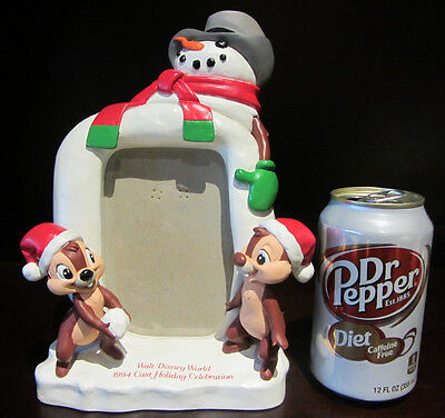 RARE Disney 1994 Cast Member Chip N and Dale Christmas Picture Photo Frame