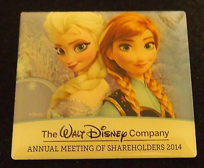 2014 Walt Disney Company Shareholders Meeting Frozen Anna & Elsa Limited Pin