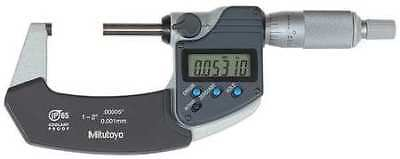 MITUTOYO 293-341-30 Digital Micrometer, Outside, 1 to 2 In