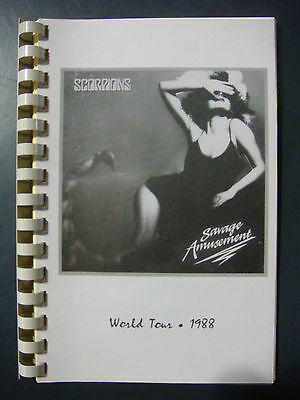 Scorpions Production Tour Book MAKE AN OFFER!