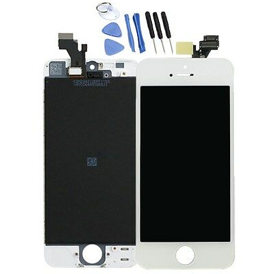 US iPhone 5 LCD Display Screen Replacement Digitizer Assembly Tool Kit White