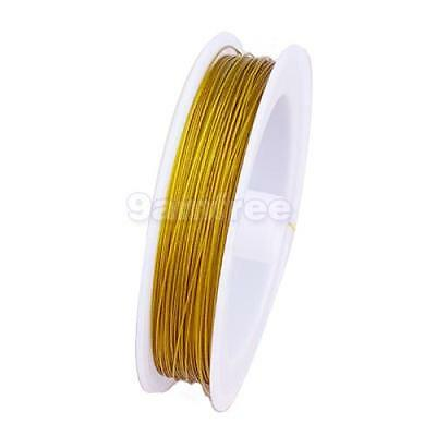98.5 Yards 0.45mm Gold Tiger Tail Jewelry Beading Wire Cord DIY Jewelry Craft