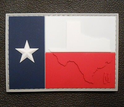 3D PVC TEXAS TX FLAG LONE STAR STATE ARMY MORALE MILITARY TACTICAL VELCRO PATCH